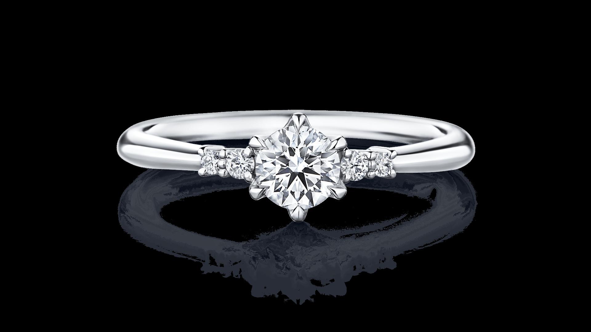 オリオン座をモチーフにした婚約指輪