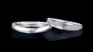夜空の美しい情景を描き出す結婚指輪☆