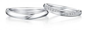 美しい月夜をイメージした結婚指輪♡