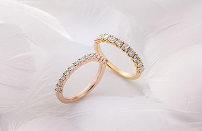 アイプリモの結婚指輪セレーネとマーニ・ハーフ