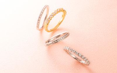 エタニティリングの結婚指輪ウェスタリス、セレーネ、カリス、マーニ・フル