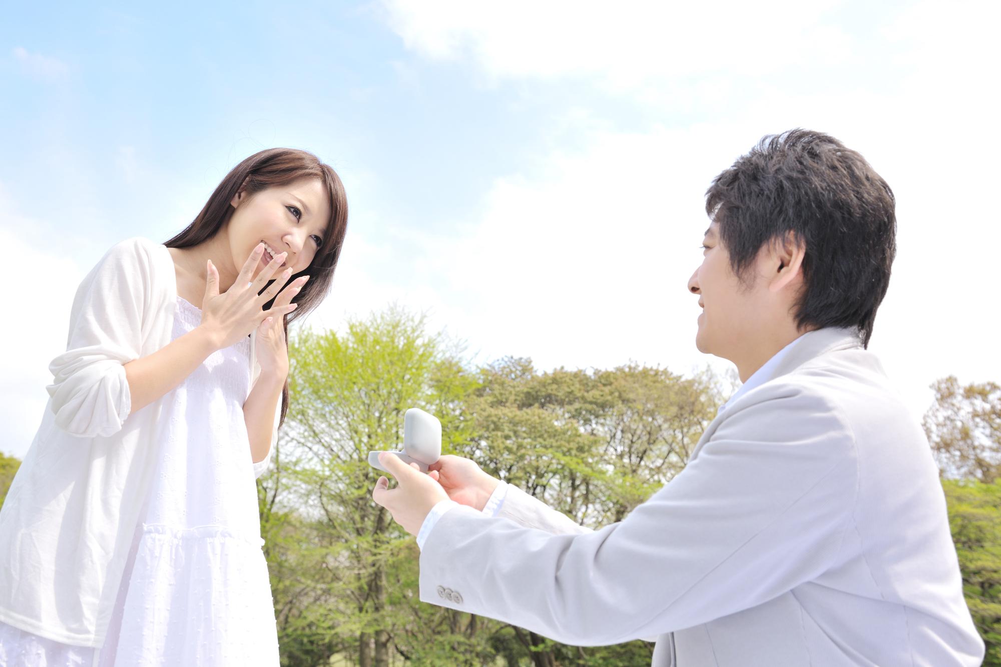 「プロポーズ驚き」の画像検索結果