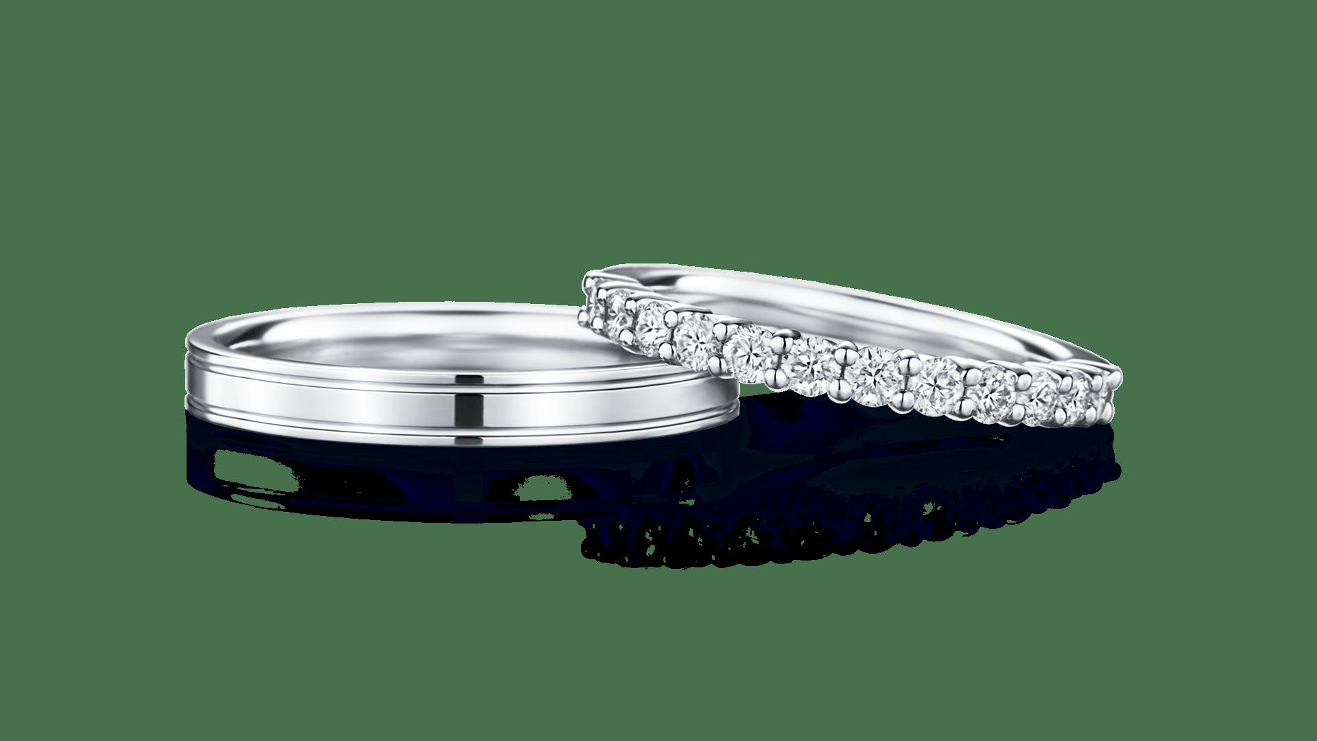 phaenna×mani half パエンナ(左)×マーニ・ハーフ(右) | 結婚指輪サムネイル 1