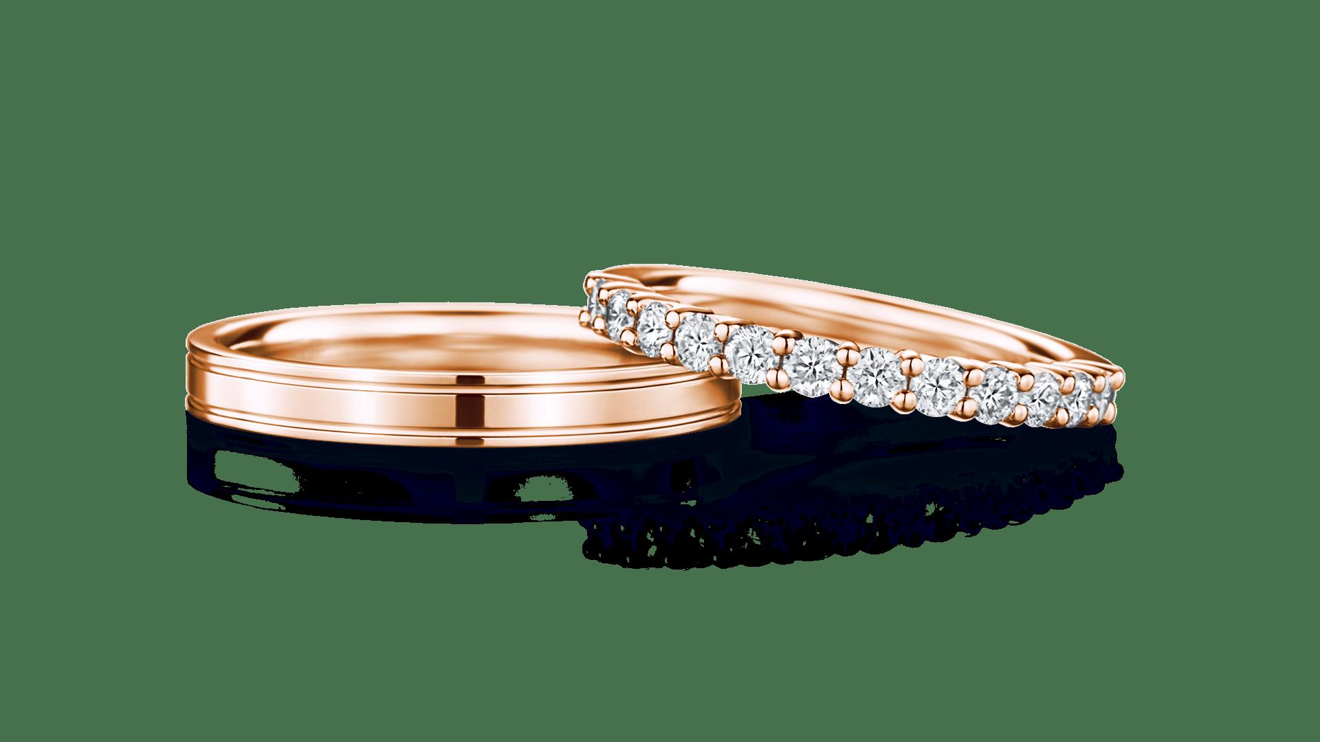 phaenna×mani half パエンナ(左)×マーニ・ハーフ(右)   結婚指輪サムネイル 1