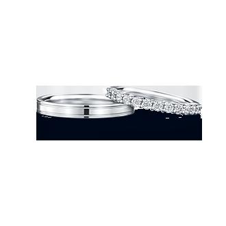 PHAENNA×MANI HALF パエンナ(左)×マーニ・ハーフ(右) 結婚指輪